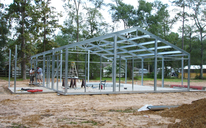 Steel Frame House Construction : Residential metal homes steel building house kits online