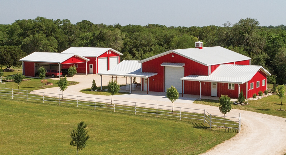 Mueller buildings custom metal steel frame homes for Steel frame barn homes
