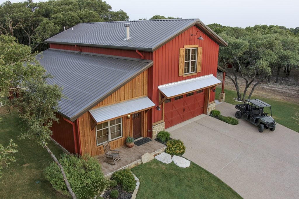 Mueller buildings custom metal steel frame homes for 12x18 garage plans