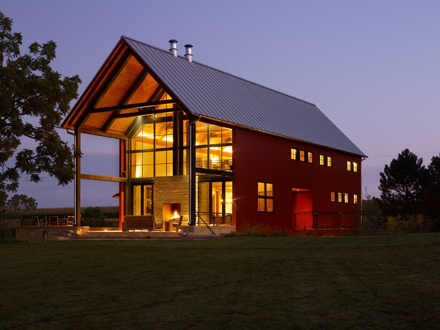 What are pole barn homes how can i build one for Two story barn house plans