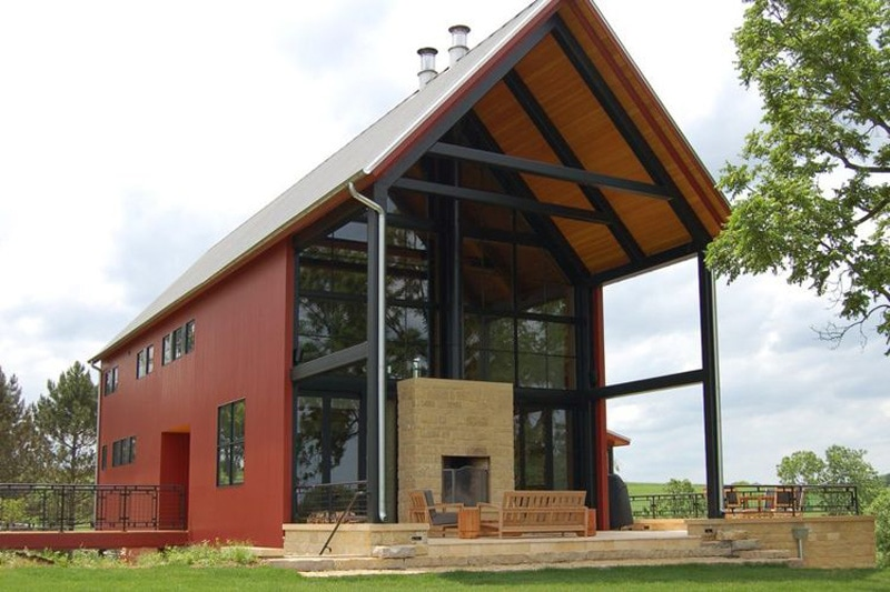 Residential metal homes steel building house kits online for Online home builder