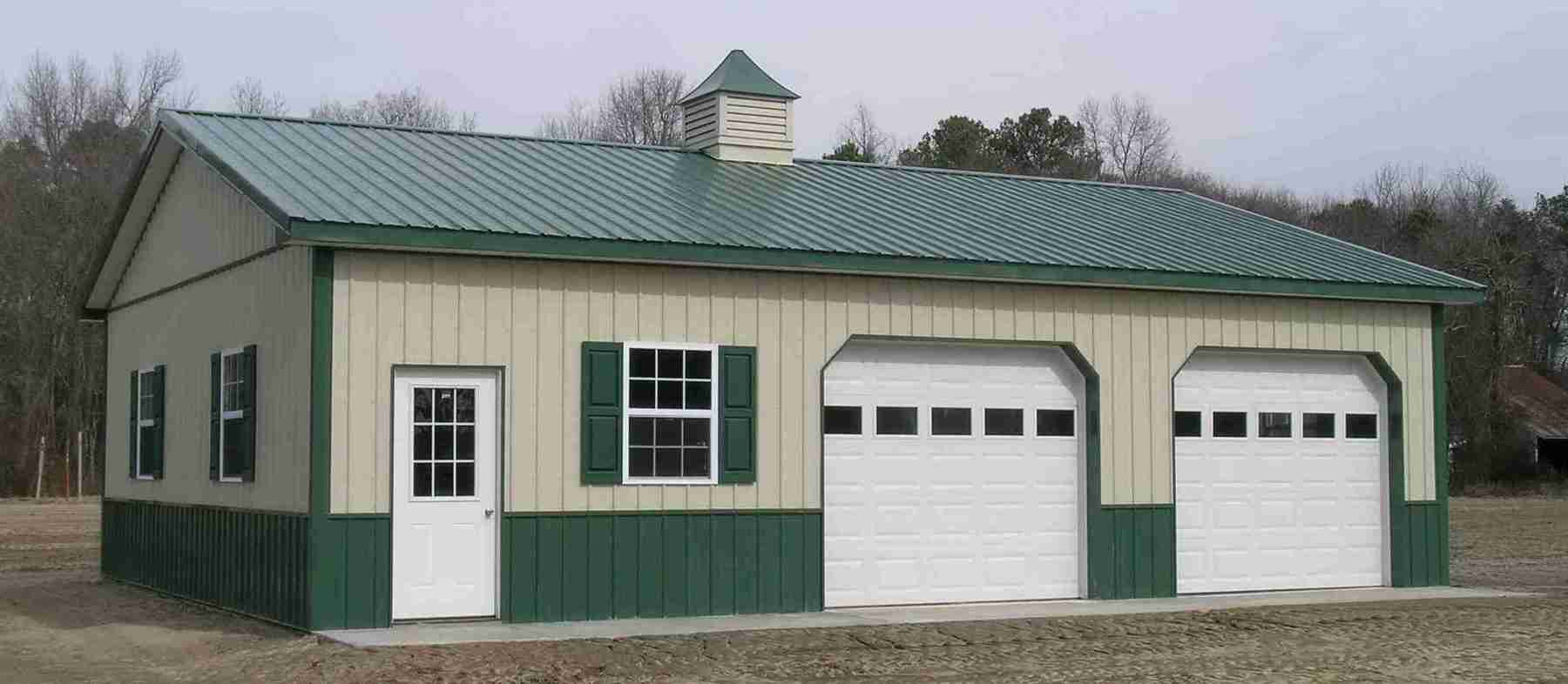 Pole barn garage kits 101 metal building homes for Pre built barn homes