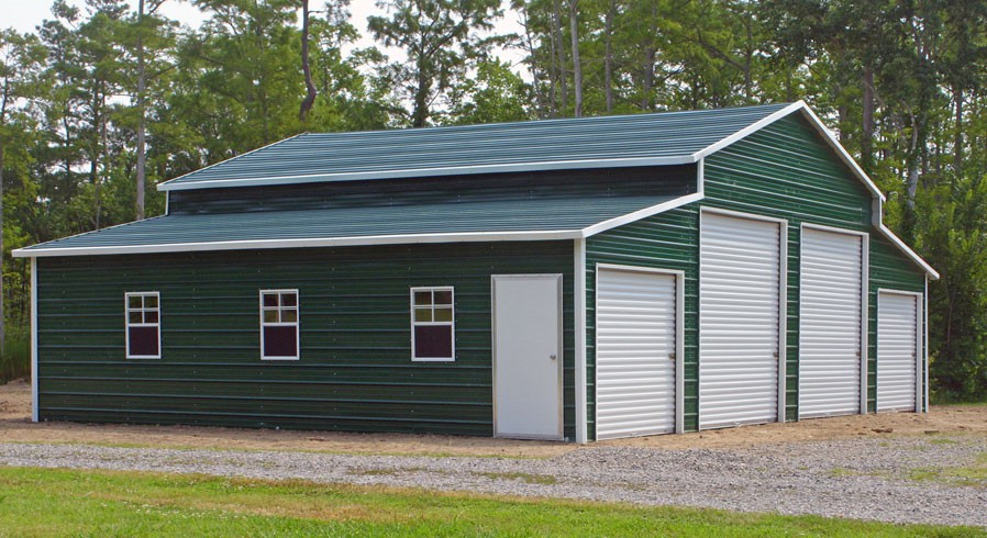 Pole barn garage kits 101 metal building homes for Metal barn images
