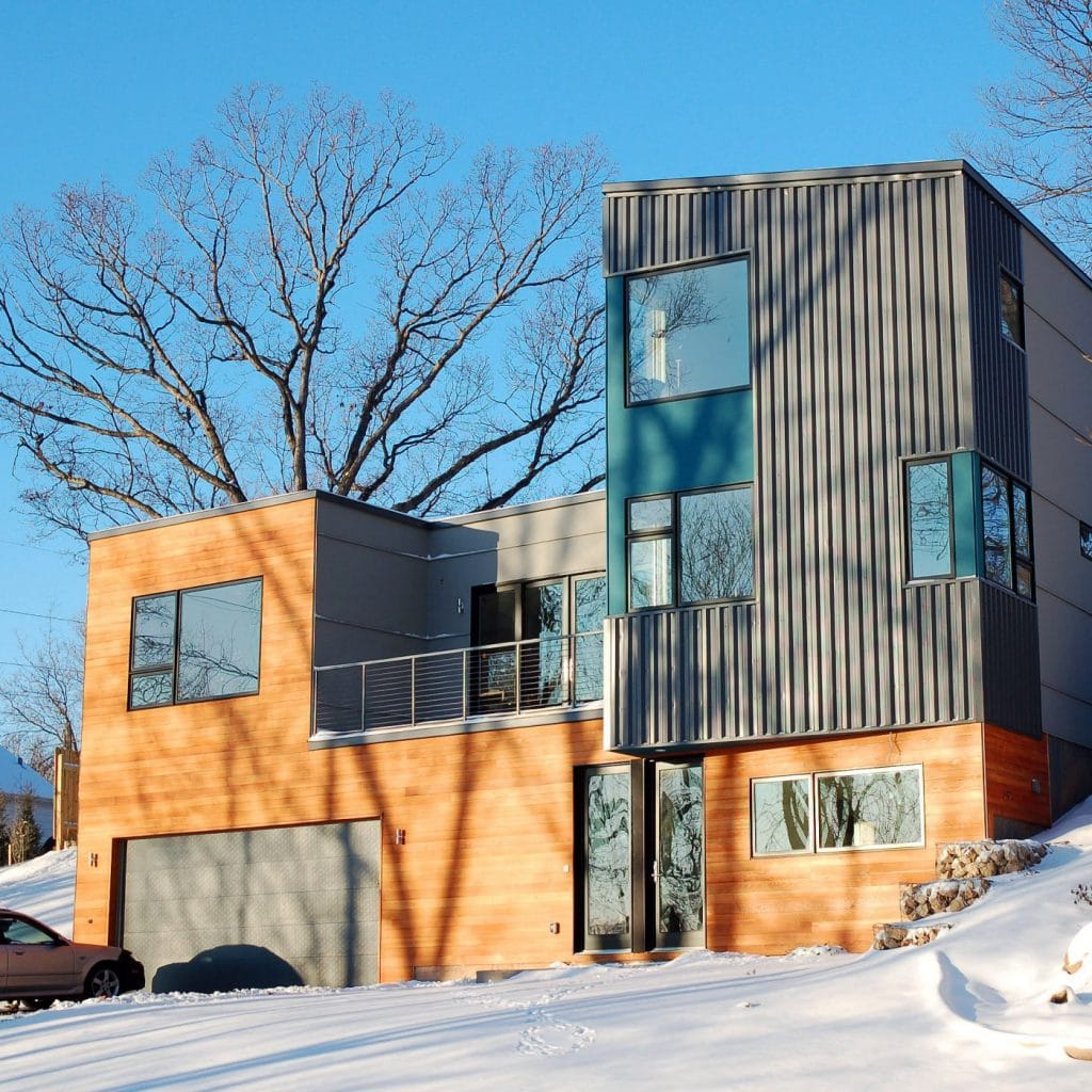 Residential metal homes steel building house kits online - Hive modular x line container home in canada ...
