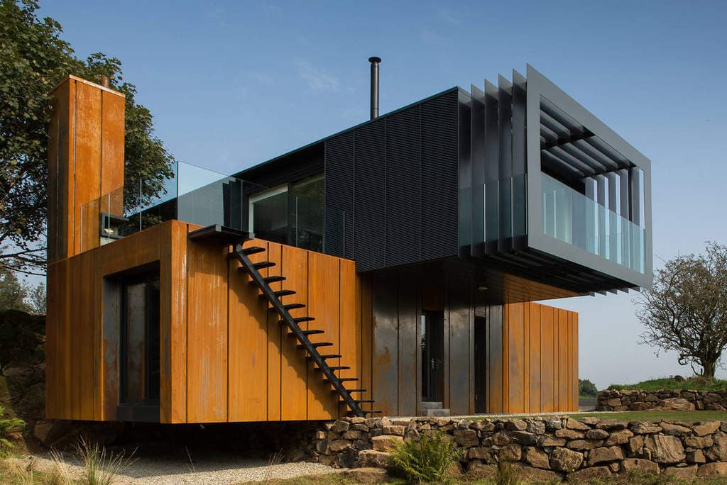 How much do shipping container homes cost metal for Custom home architect cost