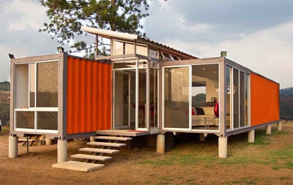 BOXED HAUS - Shipping Container House for sale on the Tiny House  Marketplace. Here we have a complete 1 bedroom off grid container home.
