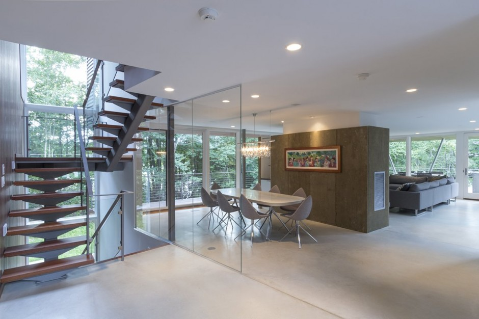 Dining room and staira