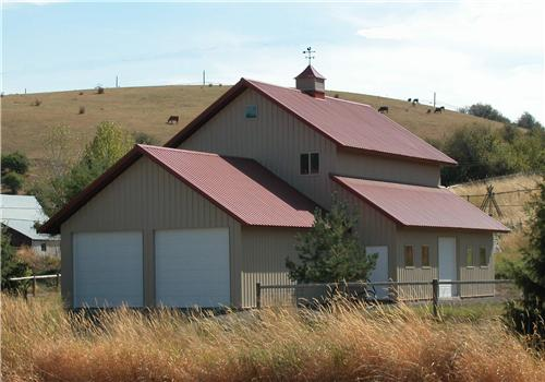 Steel structures of america metal building homes for Residential barns