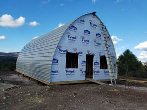 Arched Cabins - Floor Plans & Prices (Metal Prefab Cabins)
