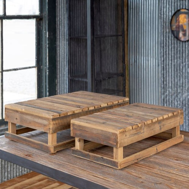Farmers Market Wood Platform