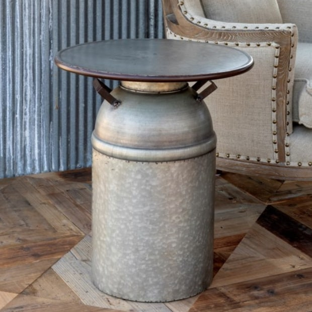 Farmhouse Milk Can Table