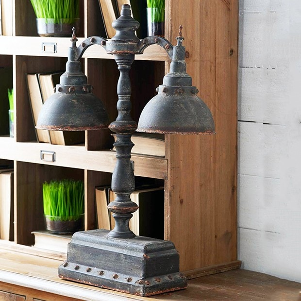 iron double lamp