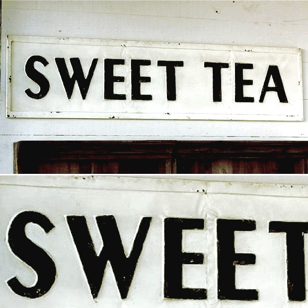 Sweet Tea Vintage Tin Sign