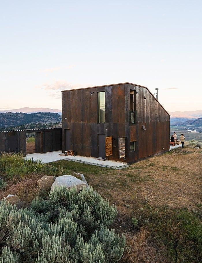 modern saltbox house