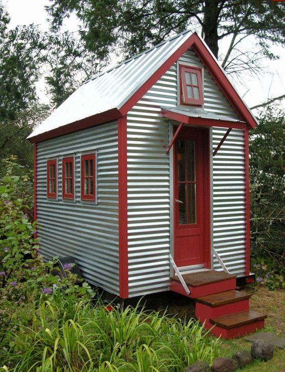 corrugated she shed