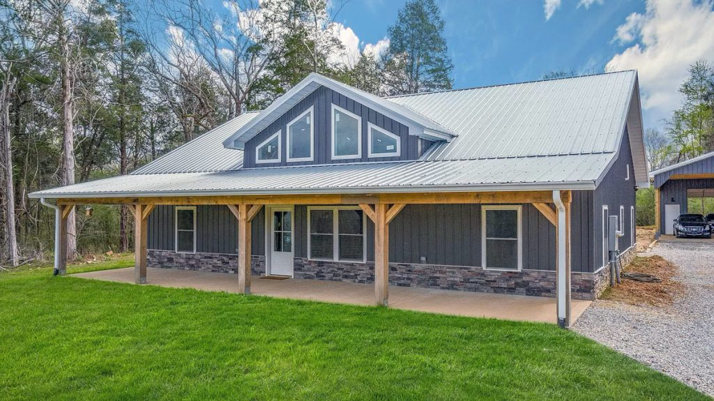 Charlotte, TN Metal Barn House For Sale