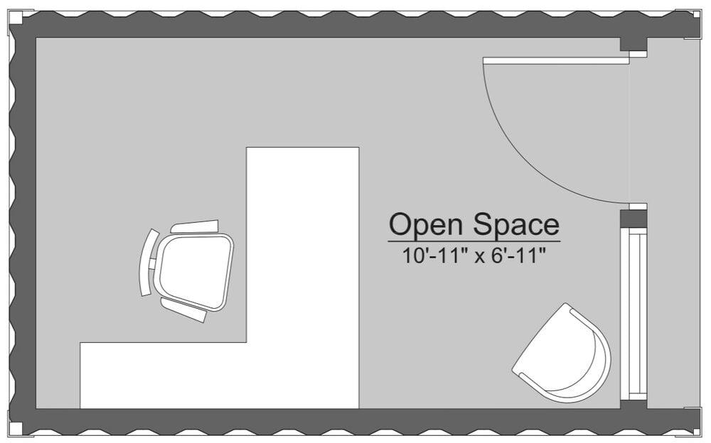 container office floor plan