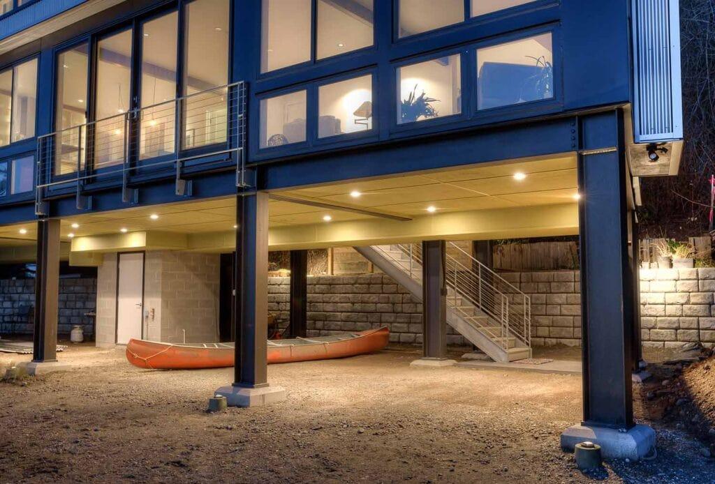 Elevated Steel Framing Foundation