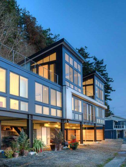 Steel framed house by Designs Northwest