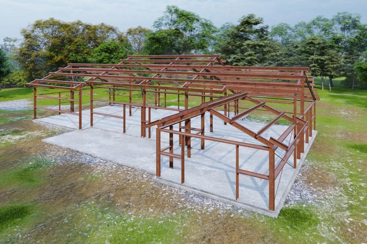 Bolt Together Steel Frame House Plan