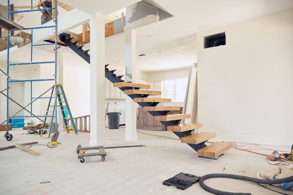 modern staircase install